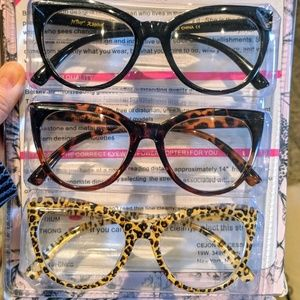 5693ba877fa Betsey Johnson Accessories - Betsey Johnson READERS 3-Pack Reading Glasses